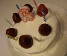 うにっ子六歳のケーキ