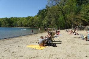 5月のビーチ。